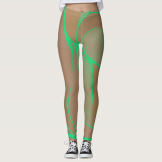 Color Twist (Mint-Chocolate) Leggings