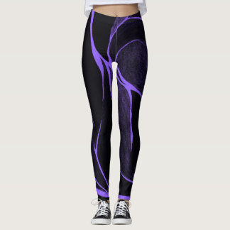 Color Twist (Purple/Black) Leggings