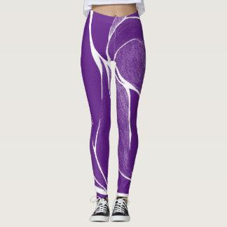 Color Twist (Purple/White) Leggings