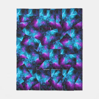 color universe fleece blanket