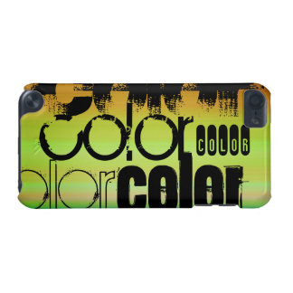 Color; Vibrant Green, Orange, & Yellow iPod Touch 5G Cover