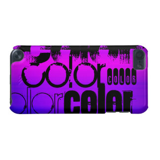 Color; Vibrant Violet Blue and Magenta iPod Touch 5G Cases