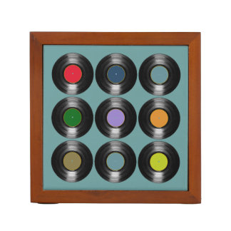 color vinyl records desk organiser