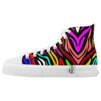 Color Wave High Top Sneakers