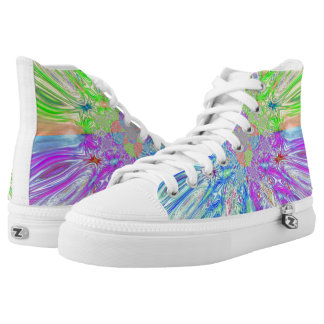 Color Wave Womens Shoes Printed Shoes