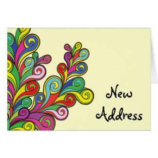 Color Waves Change of Address Card