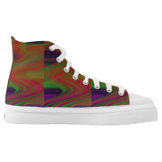 Color Waves Design Printed Shoes