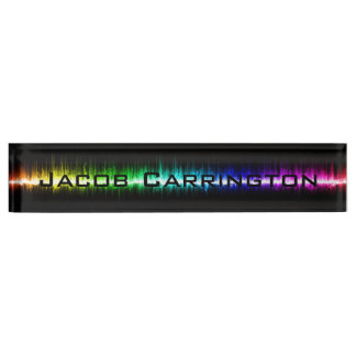 Color Waves Nameplate