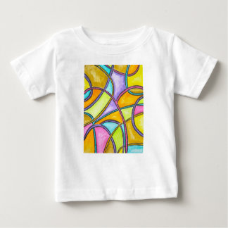 Color Weave - Abstract Art Hand Painted Baby T-Shirt