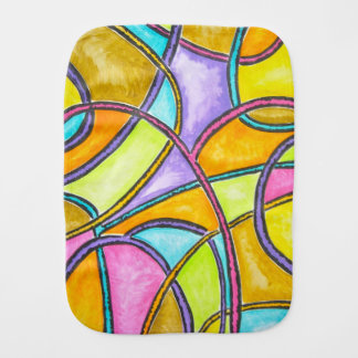 Color Weave - Abstract Art Hand Painted Burp Cloth
