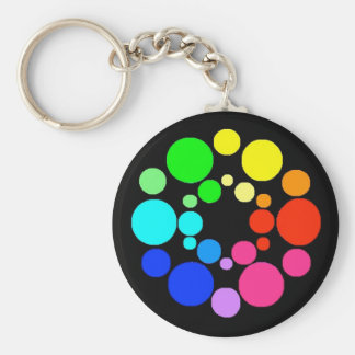 Color Wheel, Black, Key Ring