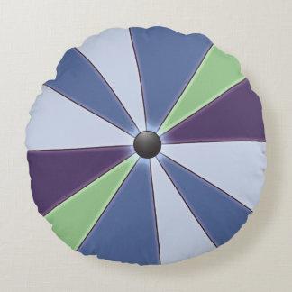 Color Wheel Blue Round Cushion