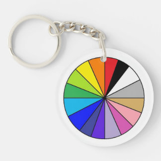 Color Wheel by EelKat Key Ring