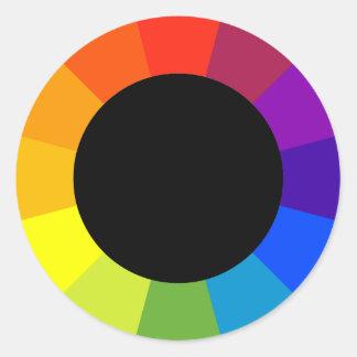 color wheel classic round sticker