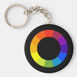 Color Wheel Design Key Rings Keychains Zazzle Au