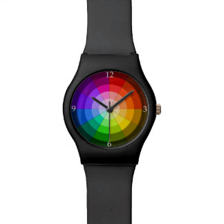 Color wheel rainbow watch