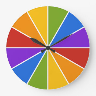 Color Wheel / Rays custom wall clock