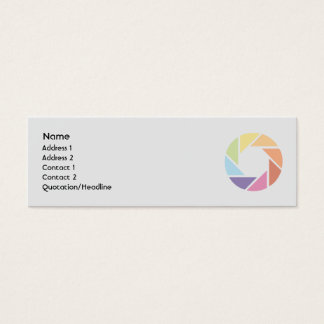 Color Wheel - Skinny Mini Business Card