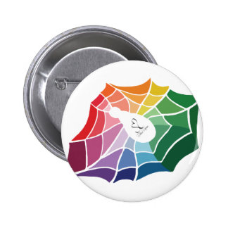 Color Wheel Spider Web 6 Cm Round Badge