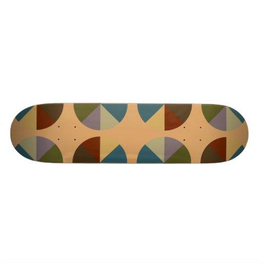 Color Wheel Tan Skate Board