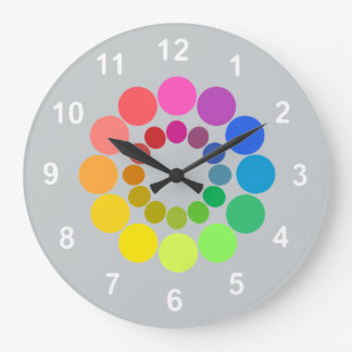 Color Wheel...with your background color. Large Clock
