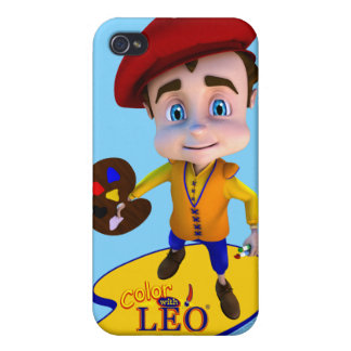 Color with Leo iPhone 4 Case- Sky Blue Cases For iPhone 4
