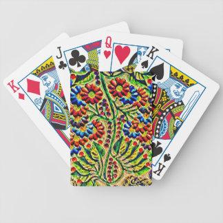 Color Wood Carving Poker Deck