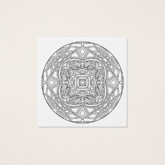 Color Your Own Coloring Book Design Abstract Square Business Card