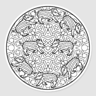 Color Your Own Coloring Book Design Animals Animal Classic Round Sticker