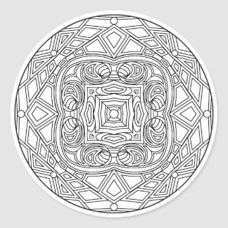 Color Your Own Coloring Book Design Classic Round Sticker
