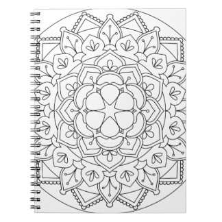Color-Your-Own Floral Mandala  060517_1 Notebooks
