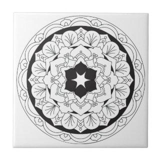 Color-Your-Own Floral Mandala 060517_4 Tile