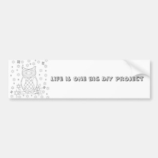 Color Your Own Owl DIY Gifts Bumper Sticker