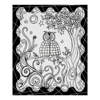 Color your own poster~ Mr. owl