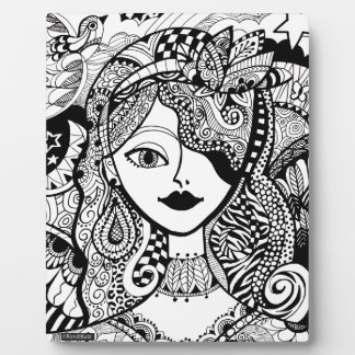 Color Your Own Zendoodle Products Display Plaque