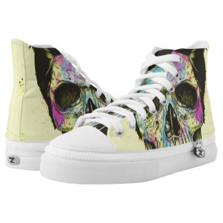 Color your skull printed shoes
