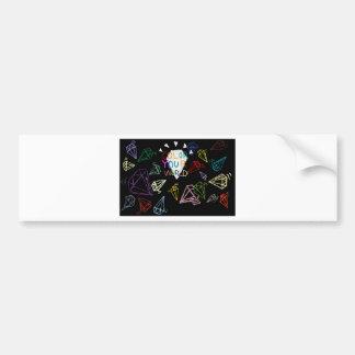 color your world bumper sticker