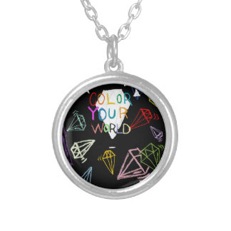 color your world silver plated necklace