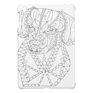 Colorable Dachshund Abstract Art Adult Coloring Case For The iPad Mini