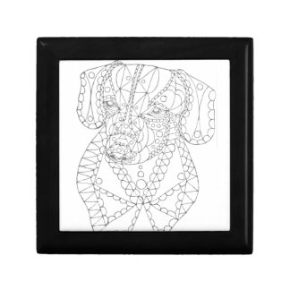 Colorable Dachshund Abstract Art Adult Coloring Gift Box