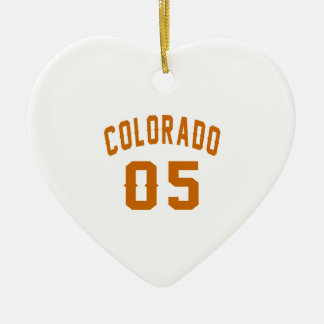 Colorado 05 Birthday Designs Ceramic Heart Decoration