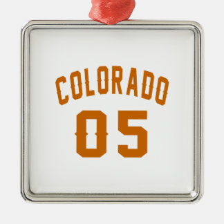 Colorado 05 Birthday Designs Silver-Colored Square Decoration