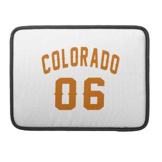Colorado 06 Birthday Designs MacBook Pro Sleeve