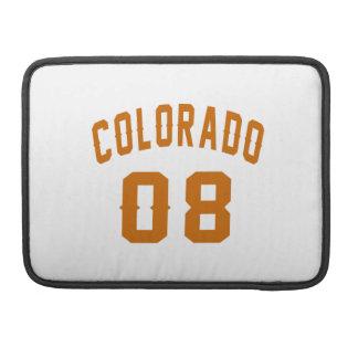 Colorado 08 Birthday Designs Sleeve For MacBooks