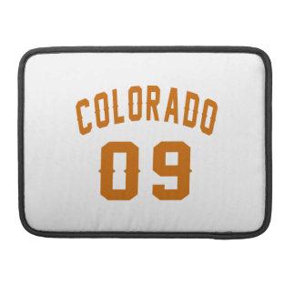 Colorado 09 Birthday Designs MacBook Pro Sleeves