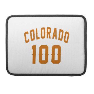 Colorado 100  Birthday Designs Sleeve For MacBooks