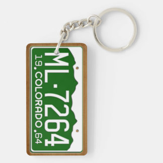 Colorado 1964 Vintage License Plate Keychain