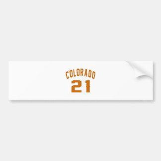 Colorado 21 Birthday Designs Bumper Sticker