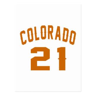 Colorado 21 Birthday Designs Postcard