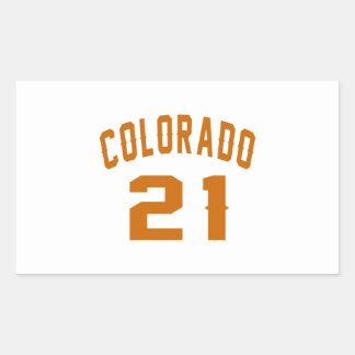 Colorado 21 Birthday Designs Rectangular Sticker